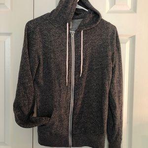 grey zumiez zip up